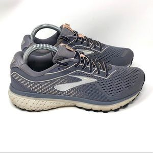 Brooks Ghost 12 Wide Grey Womens 8